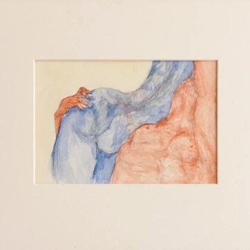 """""""Nach Giambologna"""" (34 x 48 cm;watercolour and pencil on paper)"""