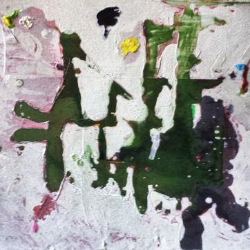 """""""Vogelmarsch"""" (Lack, Marker, Wandfarbe, Acryl auf Holz; 2016)"""